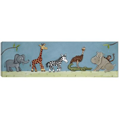 Doodlefish DB620s Safari Parade Artwork, Stretched Canvas