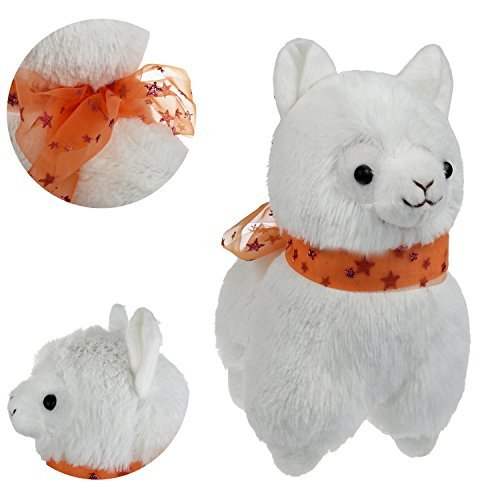 "KSB 7.3"" White Small Cute Soft Stuffed Plush Alpaca Cushion Toy Doll,Best Birthday Gifts For The Children Kids Over 3 Years-1 PCS"