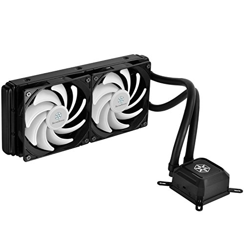 SilverStone Technology All-In-One Liquid CPU Cooler with Dual Adjustable 120mm PWM Fan TD02-LITE (Silverstone Cpu Cooler compare prices)