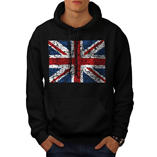 British England Flag London UK Men NEW S Hoodie | Wellcoda (British Flag Outfit compare prices)