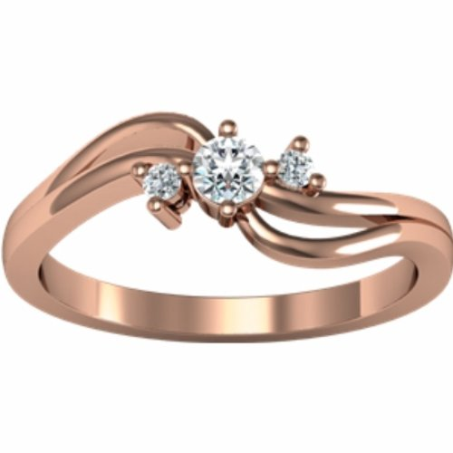 14K Rose Gold Diamond Promise Ring - 0.14 Ct. - Size 8