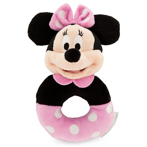 Disney Minnie Mouse Plush Rattle for Baby - 1