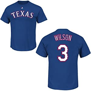 Russell Wilson Texas Rangers Royal Player T-Shirt by Majestic by Majestic