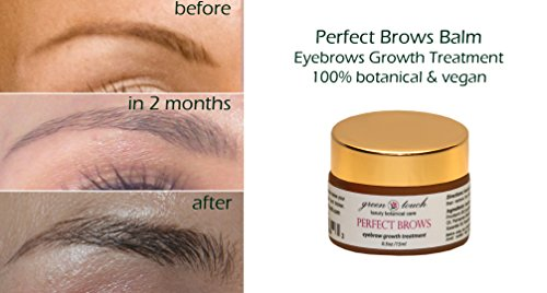 Eyebrows Growth Accelerator Balm PERFECT BROWS. Growth and Shine Balm for Fuller and Darker Brows. Improve Thinning Eyebrows with this Natural Treatment Enriched with Provitamin B5, Vitamins A & E