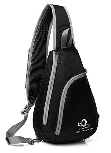 WATERFLY-Sling-Shoulder-Backpacks-Bags-Crossbody-Rope-Triangle-Pack-Rucksack-for-Hiking-or-Multipurpose-Daypacks-and-School-Handbag-for-Man-Women-Girl