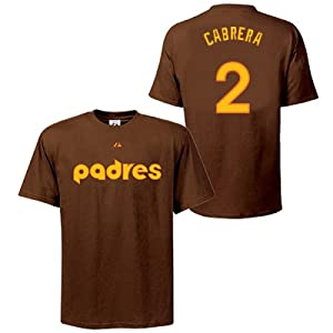 Everth Cabrera San Diego Padres Brown Player T-Shirt by Majestic by Majestic