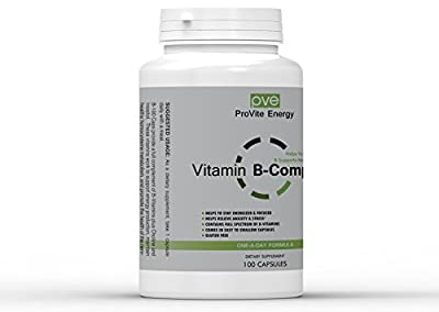 Vitamin B Complex HI POTENCY & QUALITY B-100 Gel Capsules With b12. 100 Count Bottle Contains Full Spectrum of B-Vitamins, Helps Increase Energy & Decrease Stress. Super b-100 Complex Formula!