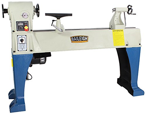 Baileigh WL-1840VS Heavy Duty Variable Speed Wood Turning Lathe, Single Phase, 220V, 0 to 3200 rpm Inverter Driven driven to distraction