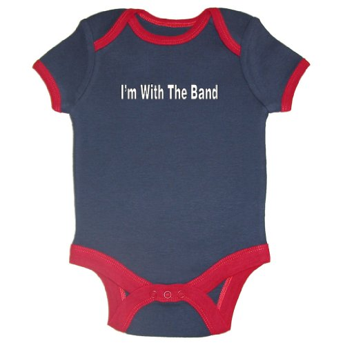 So Relative! I'M With The Band Ringer Baby Bodysuit ( Ringer, 6-12 Months)