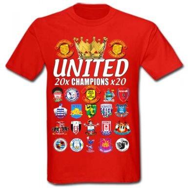 Man Utd 20 Times Champions T-Shirt