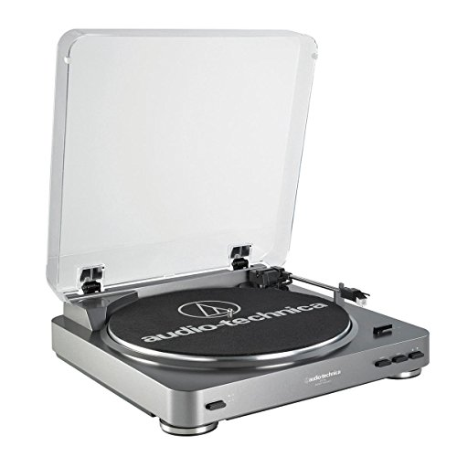 Audio Technica AT-LP60 Fully Automatic Stereo Turntable System, Silver (Direct Drive Turntable compare prices)