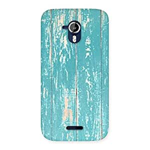 Cute CyanBlue Bar Texture Back Case Cover for Micromax Canvas Magnus A117