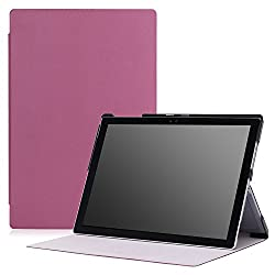 MoKo Microsoft Surface Pro 4 Case - Ultra Slim Lightweight Smart-shell Stand Cover Case for Microsoft Surface Pro 4 12.3 inch Tablet, PURPLE