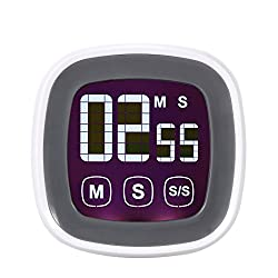 Generic Digital Touch Screen Cooking Kitchen Countdown Timer with Alarm Function