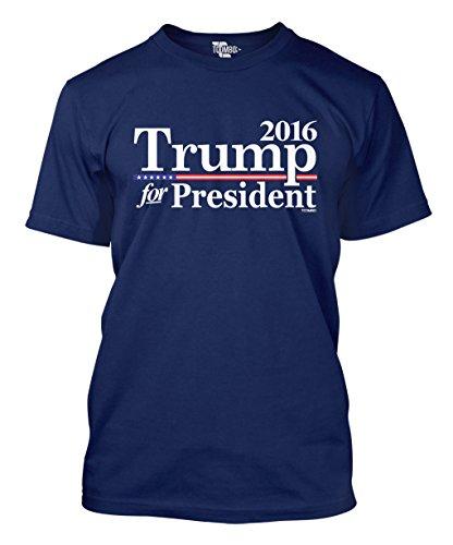 2016 Trump For President Men's T-shirt (Large, NAVY BLUE)