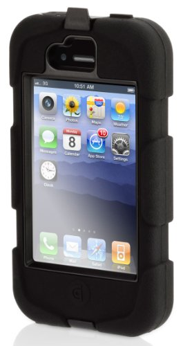 GRIFFIN Survivor Survivor + Beltclip for iPhone 4, Black GRF-SRVVR/BC-IP4-BK