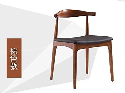 LQK MOBILI-Legno massello sedie cuscino,54*49*74cm,colore naturale