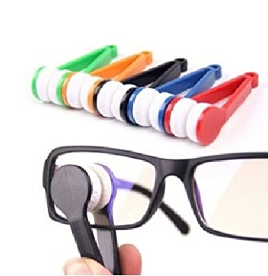 Eyeglass Microfiber Cleaner Brush (Random Color) and Repair Kit For Prescription , Sunglasses and Sports Glasses