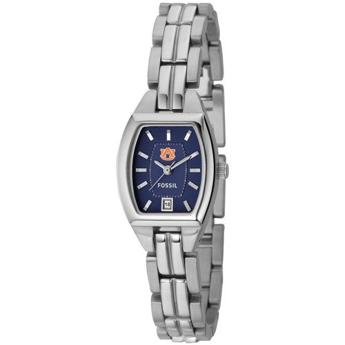 Fossil Auburn Tigers Ladies Stainless Steel Analog Cushion Watch