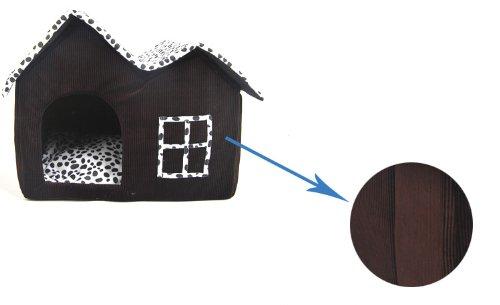Mascota-Habitacion-SODIALRLujo-Alto-Final-Doble-Mascota-Casa-Marron-Perro-Habitacion-55-x-40-x-42-cm