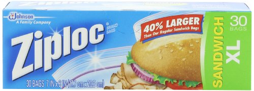 Ziploc Sandwich Bags, X-Large, 30-Count(Pack of 3) - 1