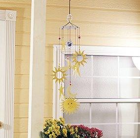 home dcor metal celestial 36 inch vibrant garden wind