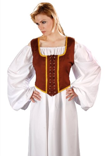 Armor Venue Women's Reversible Wench Bodice (Decorated) - Renaissance Costume