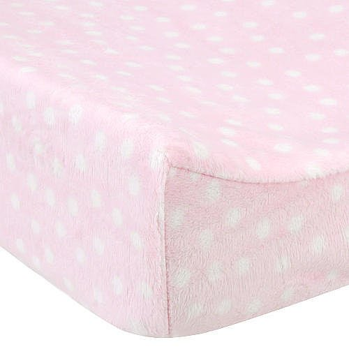 Babiesrus Plush Changing Pad Cover Pink front-664692