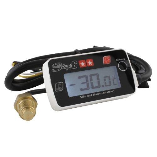 Thermometer / Temperaturmesser Stage6 White Line MKII, Mini (0-180 °C), mit weißer Hintergrundsbeleuchtung, Abmaße: 5