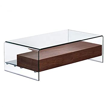 Shaman Glass-Top Coffee Table by Zuo Modern