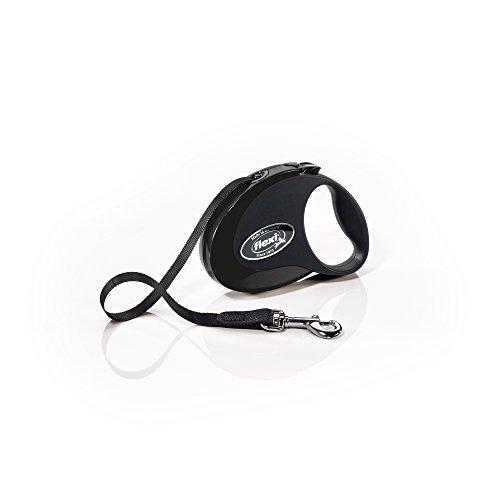 Artikelbild: flexi Roll-Leine COLLECTION S Gurt 3 m schwarz/schwarz für Hunde bis max. 12 kg