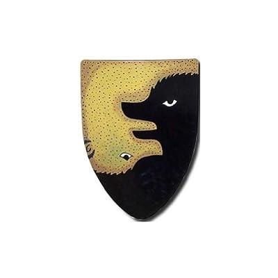 Bear Warrior Medieval Shield - 16 Gauge Steel Battle Ready - Black - One Size