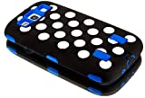 "myLife (TM) Black and Deep Blue - White Polka Dots Armor Series (3 Piece Neo Hybrid Flexi Case + Urban Body Armor Glove) Case for Samsung Galaxy S3 GT-i9300 and GT-i9305 Touch Phone (Thick Silicone Outer Gel + Tough Rubberized Internal Shell + myLife (TM) Lifetime Warranty + Sealed In myLife Brand Packaging Only) ""ATTENTION: This case comes with easy grip rubberized silicone material on the o at Amazon.com"