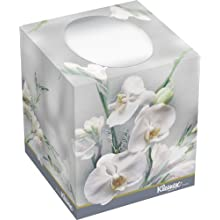 "Kimberly-Clark Kleenex 21269 Boutique Facial Tissue with Floral Box, 5"" Height x 4.375"" Width x 4.375"" Length, , White (36 Boxes of 95)"