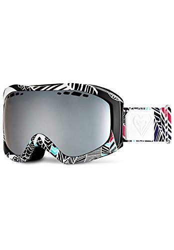 Roxy Sunset Art Series - Gafas de snowboard (Talla única), color negro