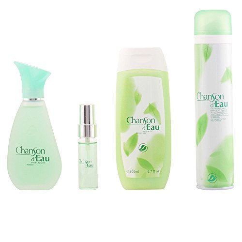 Fraiche Chanson D'Eau Deodorant/Shower Gel/Eau de Cologne/Lotion Set - Pack of 4 by Fraiche