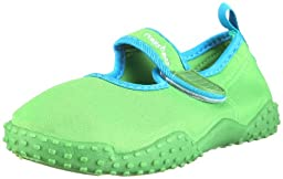 Playshoes Children\'s Aqua Beach Water Shoes (4.5 M US Toddler, Green)