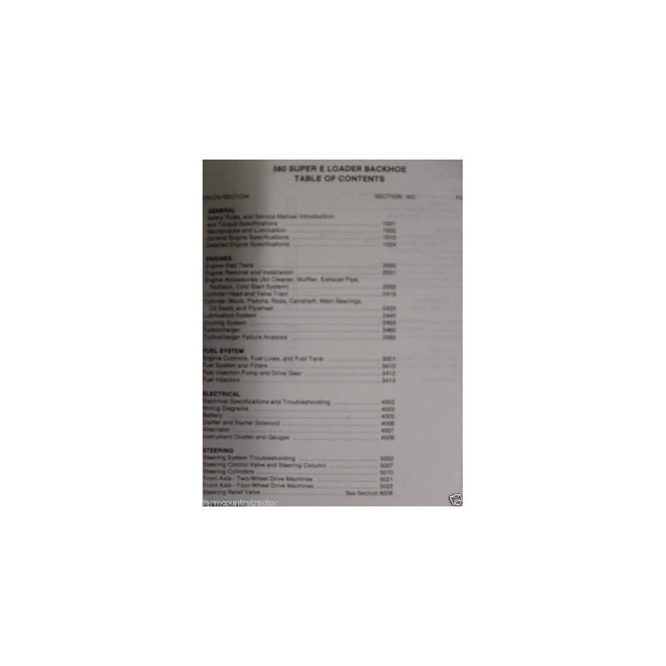 Case 580 Super E Loader/Backhoe OEM Service Manual
