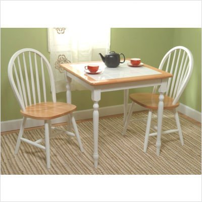 Dining Set   Table And Two Chairs   Tile Top Table (White) (Sizes Vary):  Compare Prices, Reviews U0026 Buy Online