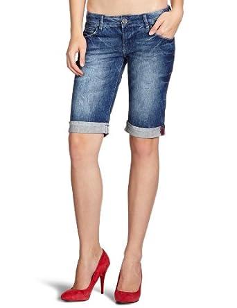 cross jeans damen jeans bermuda normaler bund a 512 010. Black Bedroom Furniture Sets. Home Design Ideas