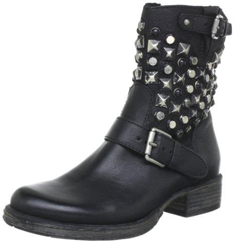 Mjus 185221 Biker Boots Womens Black Schwarz (nero 6002) Size: 6.5 (40 EU)