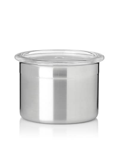 Berghoff Studio Stainless Steel Canister W/Lid 1.75 Cups, Silver, 4X4X3