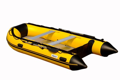 Image of Aquos 1.2mm PVC 11.8 Feet Inflatable Boat Sport Boat Dinghy Tender Rafts - Yellow - (DIC360AYB12W)