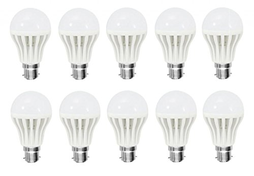 9W B22 LED Bulb (white , Set of 10)