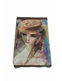 Slunk Brown 3D Sling Bag With Belt