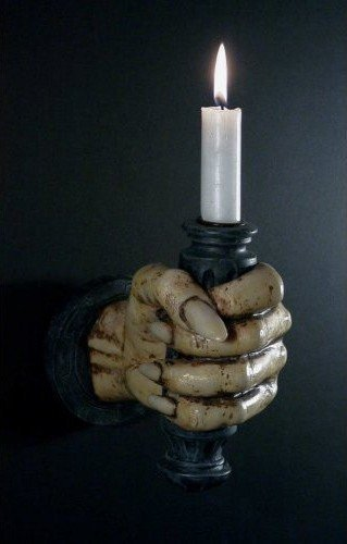 Supporto candela Applique da parete come Mano sx