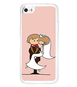Married Couple Clipart 2D Hard Polycarbonate Designer Back Case Cover for Apple iPhone 5C