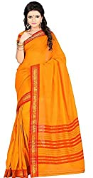 JMT Women's Cotton Saree ( JMT105 _ Yellow )