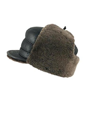 zavelio-femme-peau-de-mouton-elmer-fudd-capitaine-visiere-fourrure-chapeau-ski-neige-xx-large-brown