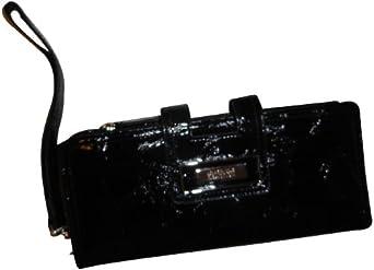 Women's Kenneth Cole Reaction Wallet Black Tab Clutch w/ Strap Wristlet